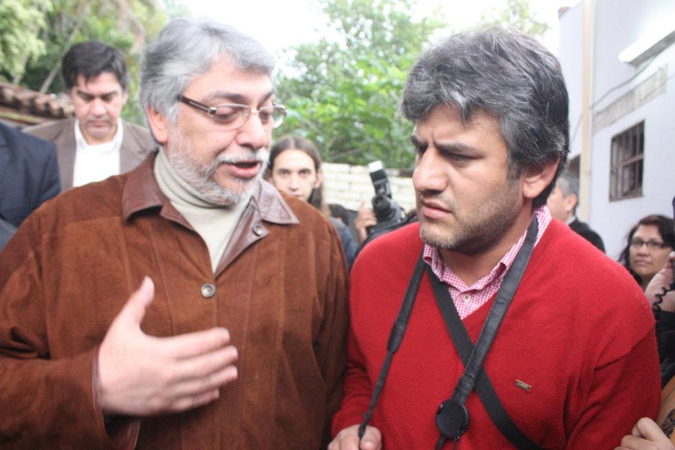 Con el presidente destituído, Fernando Lugo.